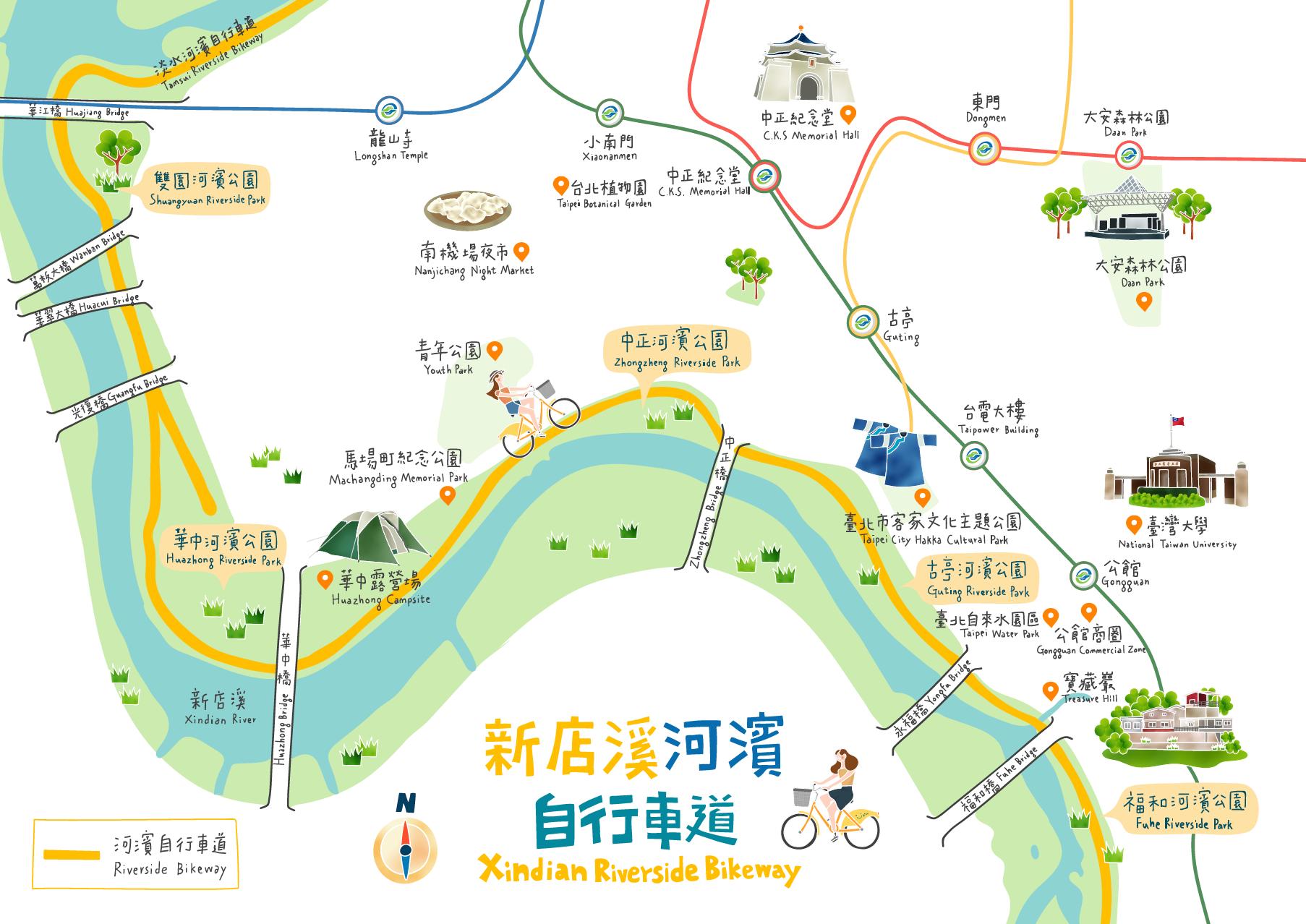 新店溪河濱自行車道